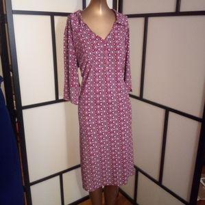 Collared Fun Print Dress